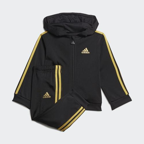 adidas Shiny Bold 49 Allover Print Bebek Siyah Eşofman Takımı (GM8965)