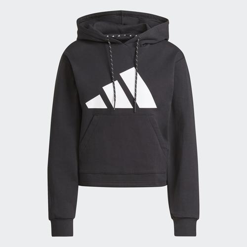 adidas Sportswear Relaxed Doubleknit Kadın Siyah Sweatshirt (GL9500)