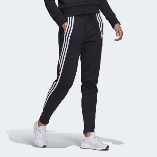 adidas 3-Stripes Doubleknit Fermuarlı Kadın Siyah Eşofman Altı (FR5114)