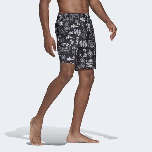 adidas Classic-Length Graphic Erkek Siyah Mayo Şort (GM2226)