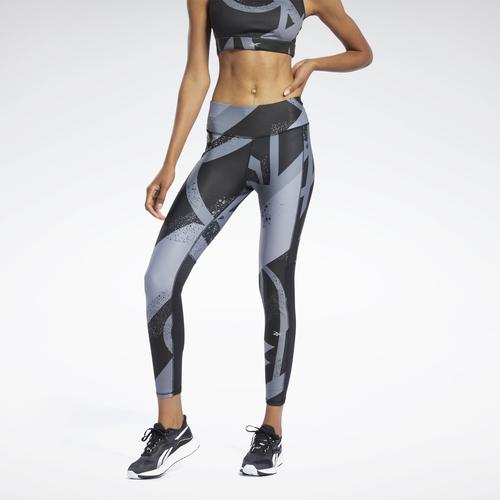 Reebok Essential Allover Print Kadın Siyah Tayt (GL2296)