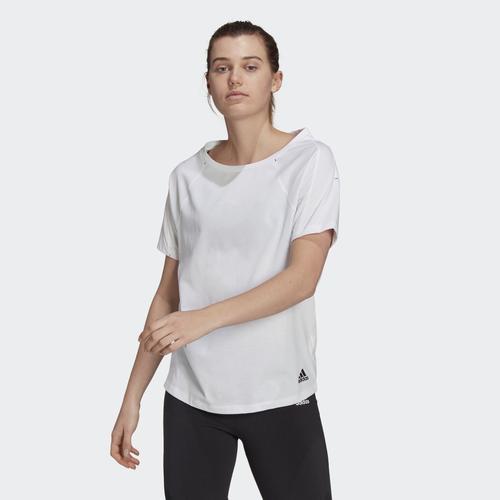 adidas Sportswear Primeblue Loose-Fit Kadın Beyaz Tişört (GL9506)