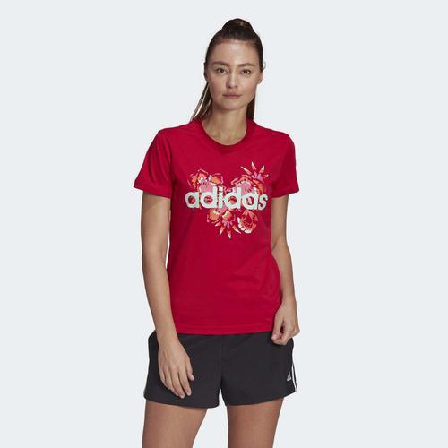 adidas Farm Rio Floral Graphic Kadın Kırmızı Tişört (GL0833)