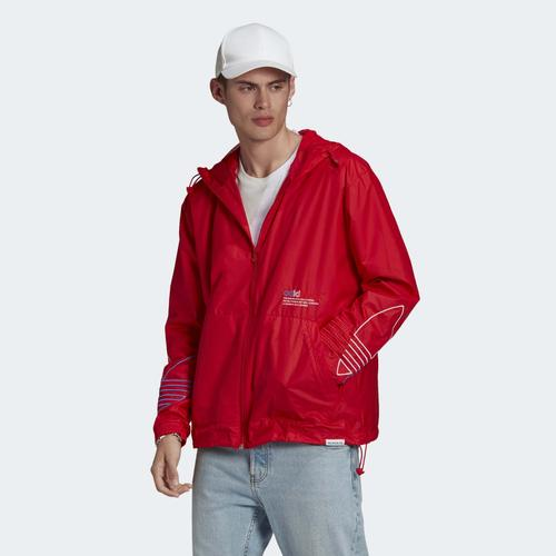adidas Adicolor FTO Erkek Kırmızı Rüzgarlık (GN3561)