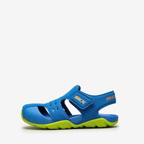 Skechers Side Wave Çocuk Mavi Sandalet (92330L-BBLM)