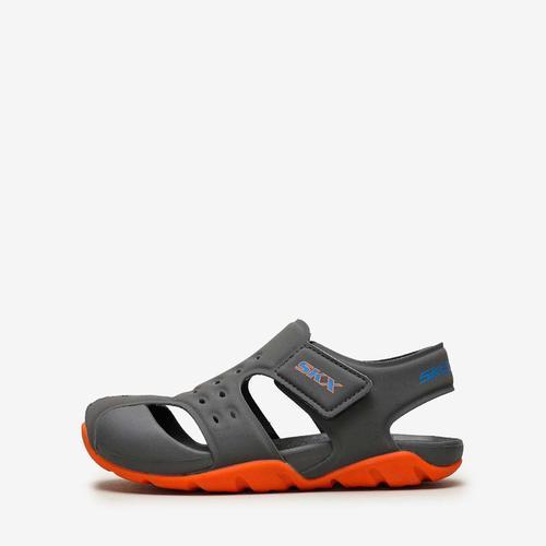 Skechers Side Wave Çocuk Gri Sandalet (92330L-CCOR)