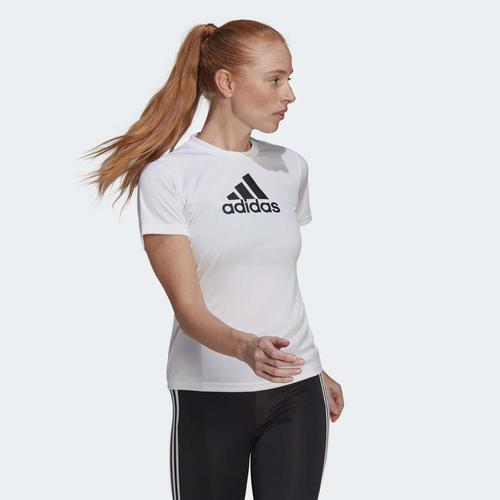 adidas Primeblue Designed 2 Move Logo Kadın Beyaz Tişört (GL3821)