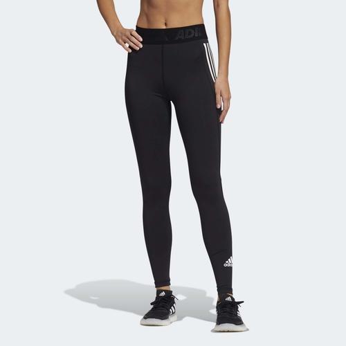 adidas Techfit 3-Stripes Long Kadın Siyah Tayt (GL0685)