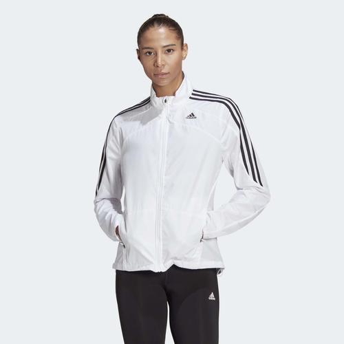 adidas Marathon 3-Stripes Kadın Beyaz Ceket (GK6061)