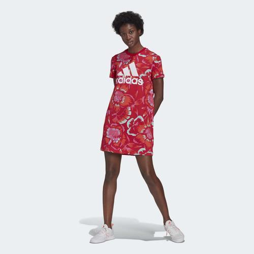 adidas FARM Rio Floral Print Kırmızı Elbise (GU0951)