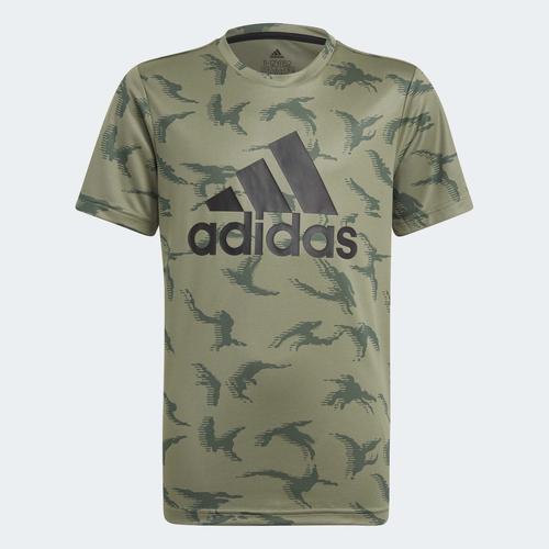 adidas Designed To Move Camouflage Çocuk Yeşil Tişört (GN1488)