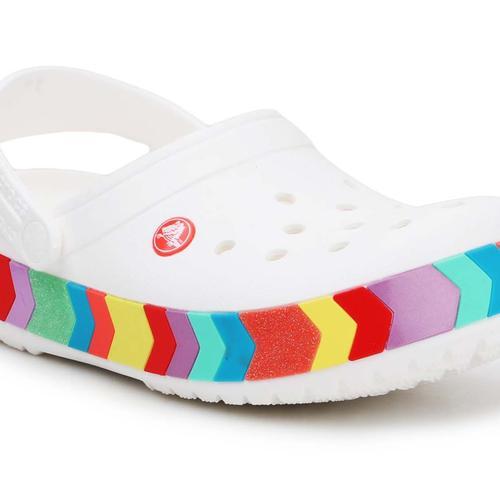 Croscs Crocband Chevron Beaded Clog Çocuk Beyaz Sandalet (207007-100)