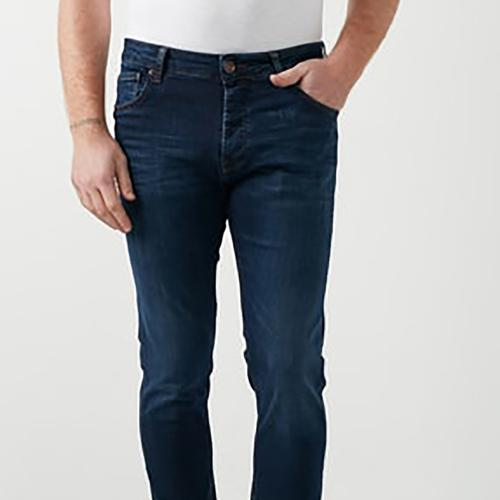 Five Pocket Bartez Erkek Mavi Jean Pantolon (7510-F206)