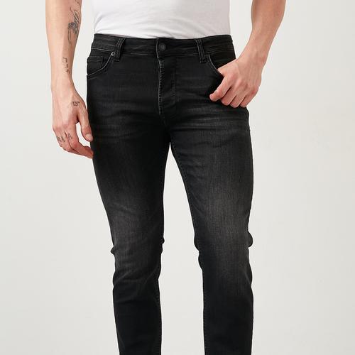 Five Pocket Bartez Erkek Siyah Jean Pantolon (7510-F144)