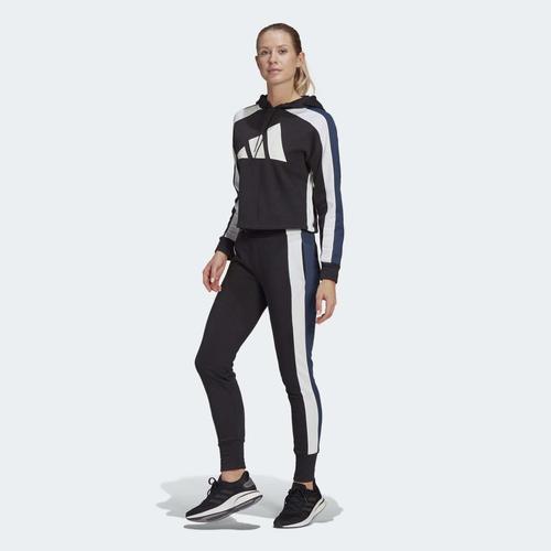 adidas Sportswear Badge of Sport Logo Kadın Siyah Eşofman Takımı (GL9482)