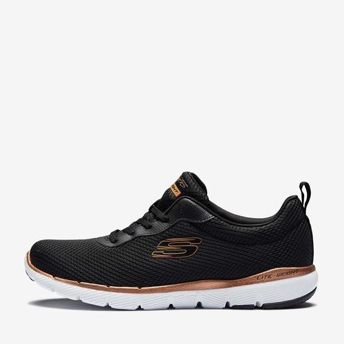 Skechers Flex Appeal 3.0 Kadın Siyah Spor Ayakkabı (S13070-BKRG)