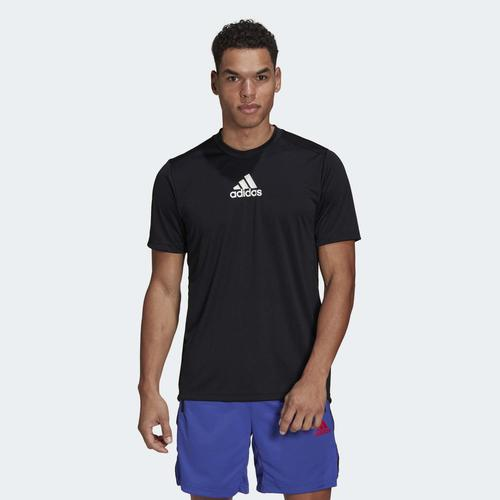 adidas Primeblue Designed To Move Sport 3-Stripes Erkek Siyah Tişört (GM2126)