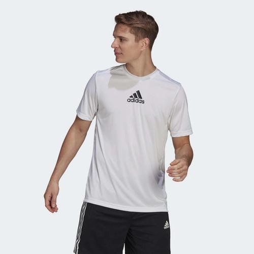 adidas Primeblue Designed To Move Sport 3-Stripes Erkek Beyaz Tişört (GM2135)