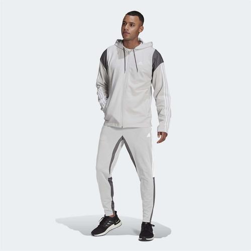 adidas Sportswear Ribbed Insert Erkek Gri Eşofman Takımı (GM5797)