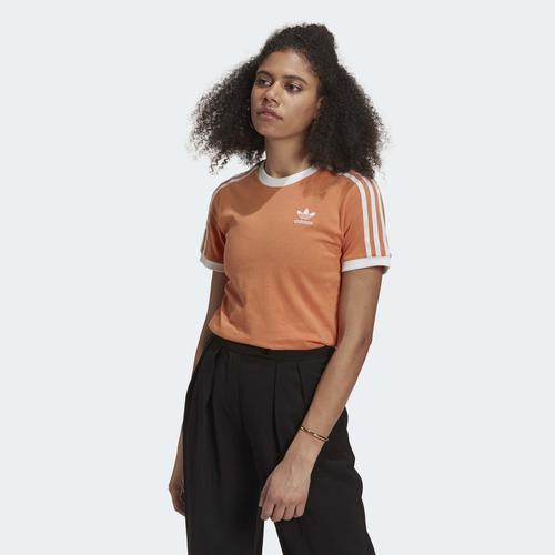 adidas Adicolor Classics 3-Stripes Kadın Turuncu Tişört (GN2916)