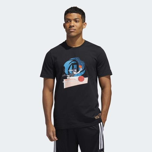 adidas D Rose Geek Up Pong Erkek Siyah Tişört (GE4125)