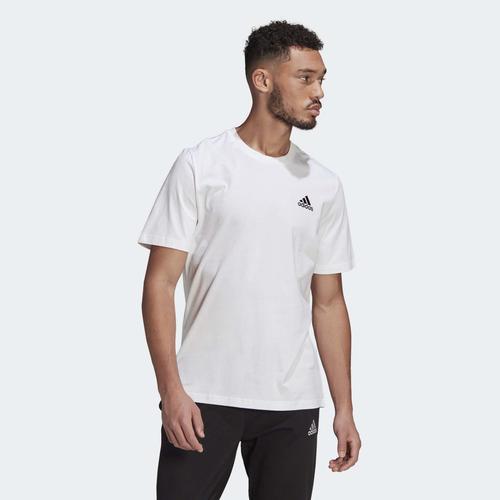 adidas Essentials Embroidered Small Logo Erkek Beyaz Tişört (GK9640)