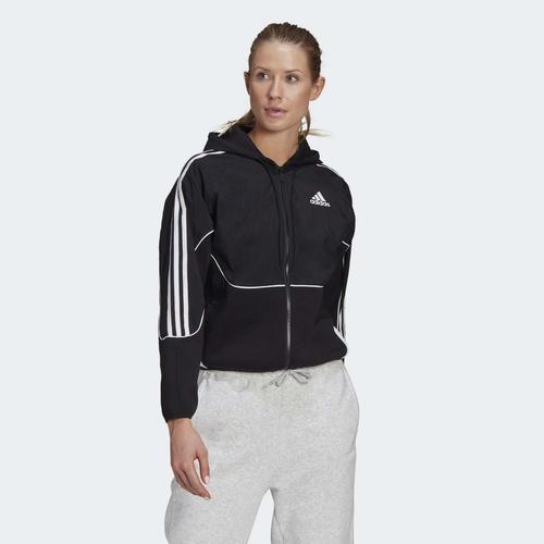 adidas Sportswear Colorblock Kadın Siyah Ceket (GL9474)