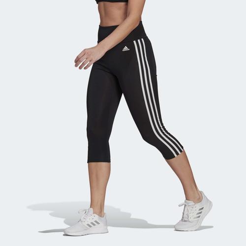adidas Designed To Move 3-Stripes 3/4 Sport Kadın Siyah Tayt (GL3985)