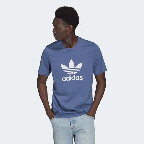 adidas Adicolor Classics Trefoil Erkek Mavi Tişört (GN3467)
