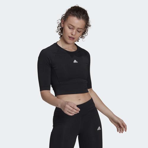 adidas Fitted AEROREADY Sport Kadın Siyah Tişört (GL3924)