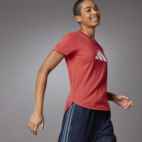 adidas 3 Bar Logo Kadın Kırmızı Tişört (GQ9423)