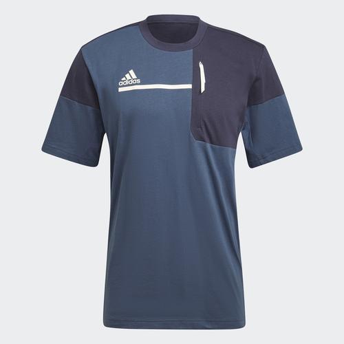 adidas Sportswear Z.N.E. Erkek Mavi Tişört (GM6390)