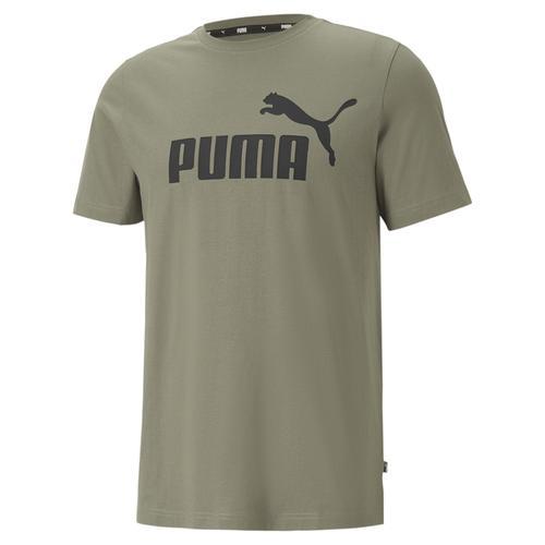 Puma Essentials Logo Erkek Haki Tişört (586667-44)
