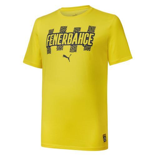 Puma Fenerbahçe Sk FutbolCore Erkek Sarı Tişört (767022-01)