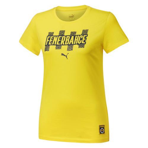 Puma Fnerbahçe Sk FutbolCore Kadın Sarı Tişört (767025-01)