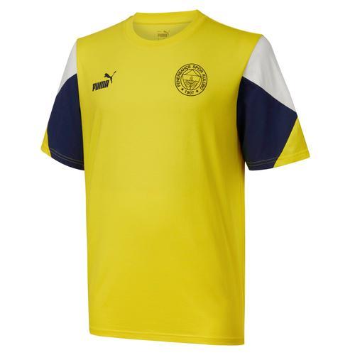 Puma Fenerbahçe Sk FutbolCulture Erkek Sarı Tişört (767031-01)