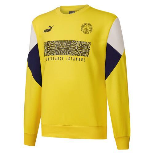 Puma Fenerbahçe Sk FutbolCulture Erkek Sarı Sweatshirt (767032-01)