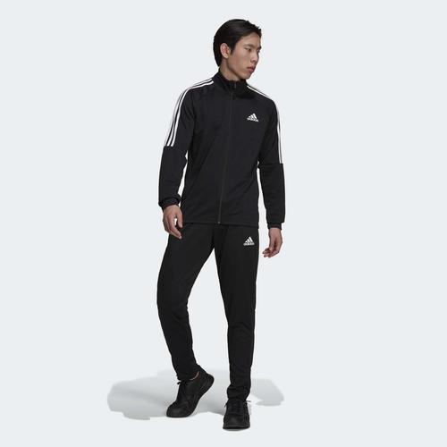 adidas Agasalho AEROREADY Sereno Cut 3-Stripes Erkek Siyah Eşofman Takımı (H28922)