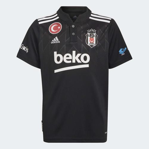 adidas Beşiktaş JK 21/22 Çocuk Siyah Deplasman Forması (GT9588)