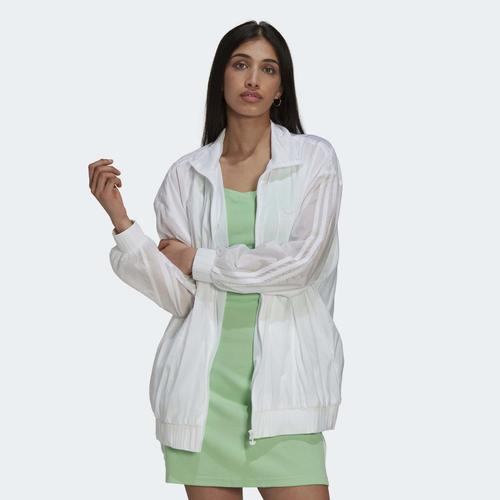 adidas Adicolor Oversize Ripstop Kadın Beyaz Ceket (H11422)