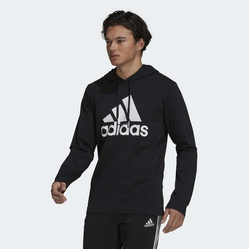 adidas Essentials Logo Erkek Siyah Sweatshirt (GV5281)