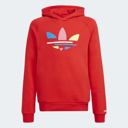 adidas Adicolor Çocuk Kırmızı Sweatshirt (H32399)