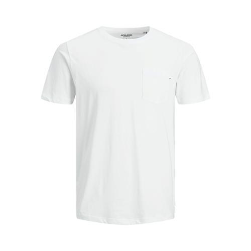 Jack & Jones Pocket Noos Erkek Beyaz Tişört (12136714-W)