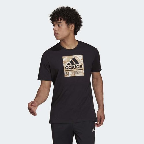 adidas Camo Box Graphic Erkek Siyah Tişört (GS6307)