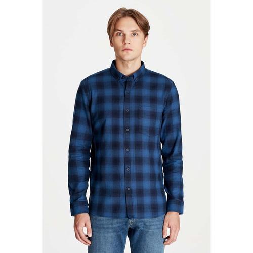 Mavi Erkek Lacivert Kareli Gömlek (021407-30206)