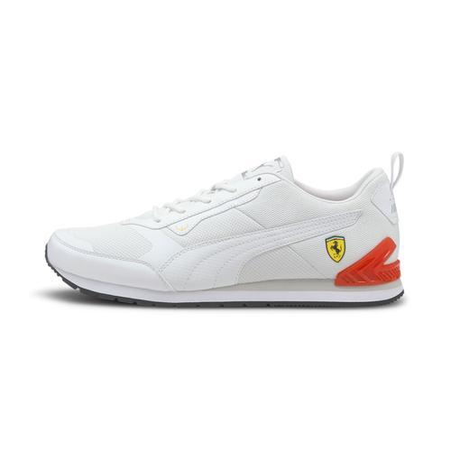 Puma Ferrari Track Racer Erkek Beyaz Spor Ayakkabı (306858-02)