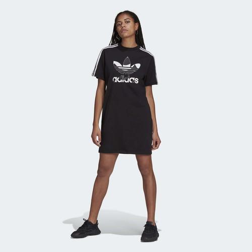 adidas Marimekko Trefoil Print Infill Kadın Siyah Elbise (H20487)
