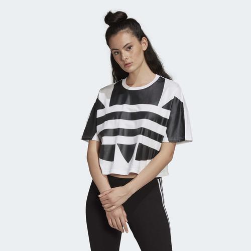 adidas Lrg Logo Kadın Beyaz Tişört (FM2564)