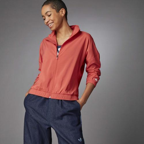 adidas 3 Bar Logo Warm-Up Kadın Kırmızı Ceket (GL0694)