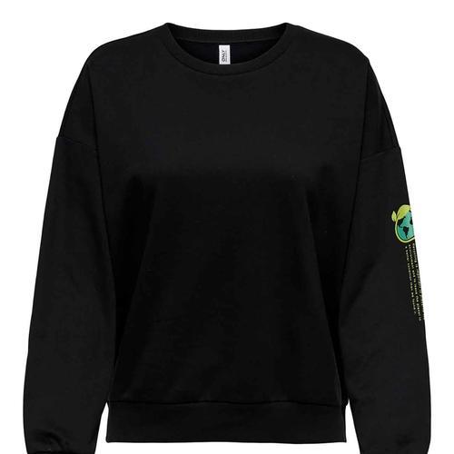 Only Organic Kadın Siyah Sweatshirt (15249468-B)